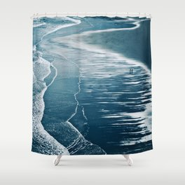 Lying there, thinking Shower Curtain