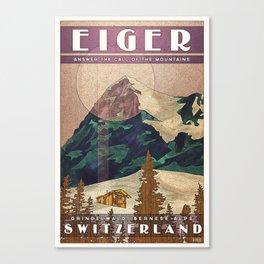 Switzerland Eiger Canvas Print