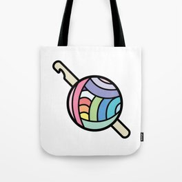 Crochet the Rainbow Tote Bag