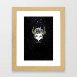 Taurus boy Framed Art Print