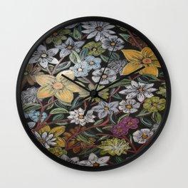 Flowers - Pattern Design - - Wild Veda Wall Clock