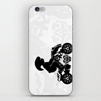 mario kart iPhone & iPod Skins featuring Mario Kart 8 - Master Cycle Silhouette by brit eddy