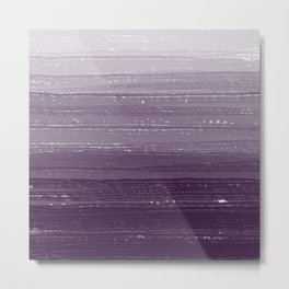 Aubergine Paint Gradient Metal Print