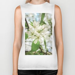 the Apple blossoms Biker Tank