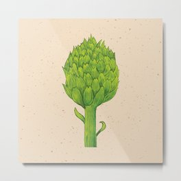 watercolor artichoke Metal Print