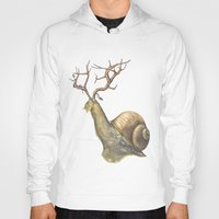 snail Hoodies featuring Snail by Alesha