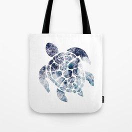 Sea Turtle - Blue Ocean Waves Tote Bag