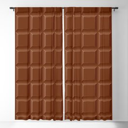 Chocolate Sweet Bar with a bite out of the corner Blackout Curtain