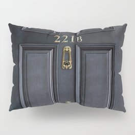 Haunted black door with 221b number Pillow Sham
