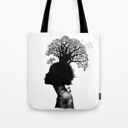 Natural Black Woman Tote Bag