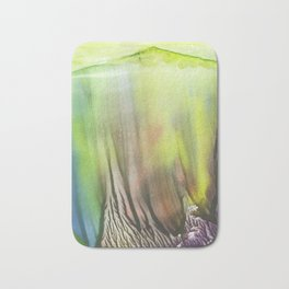 Waterfall of colors - abstract landscape watercolor monotype Bath Mat