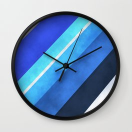 Parallel Blues Wall Clock