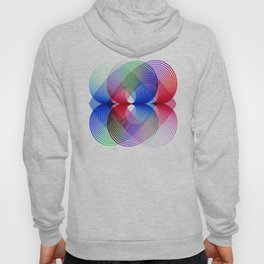 Flower Power geometric  colorful Hoody