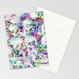 Rock n' roll skulls Stationery Cards