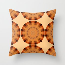 Rust-Art / mandala-style-rust Throw Pillow