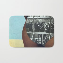 The People's History of the United States (Beach Edition) Vintage Collage Bath Mat
