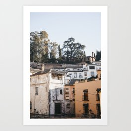 Granada from the Ground | Spanish architecture | Bright & Airy Street Photography unique travel art  Art Print