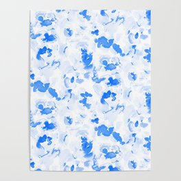 AbstractFlora Lapis Blue Poster