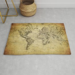 World Map 1814 Rug