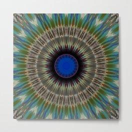 Mutated Glass Mandala Metal Print