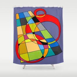 Abstract #52 Shower Curtain