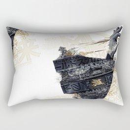 Back on the train Rectangular Pillow