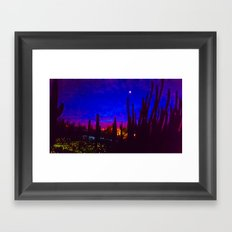 Sunset in Phoenix, Arizona Framed Art Print