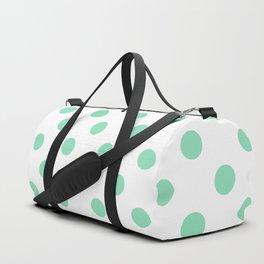 Polka Dots (Mint & White Pattern) Duffle Bag