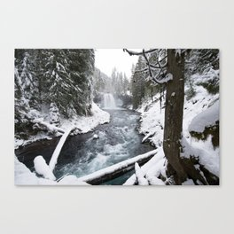The Wild McKenzie River Waterfall - Nature Photography Canvas Print