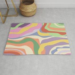 Retro Colorful Swirl Pattern Rug