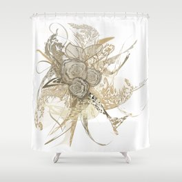 50 shades of lace Gold Shower Curtain