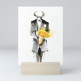 Saxophonist Musician Drawing Mini Art Print