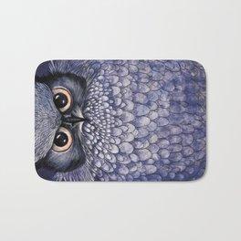 La Sagesse du Hibou (The Blue Owl) Bath Mat