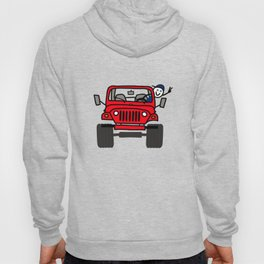 Jeep Wave Boy - Red Hoody