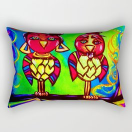 Love Birds in Style Rectangular Pillow