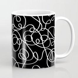Linear Swirls black and white Coffee Mug