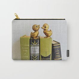 Ducks on Books - Green & Black Carry-All Pouch