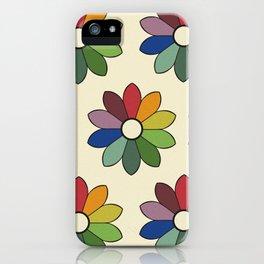 Flower pattern based on James Ward's Chromatic Circle iPhone Case