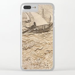 Boats at Saintes-Maries by Vincent van Gogh, 1888 Clear iPhone Case