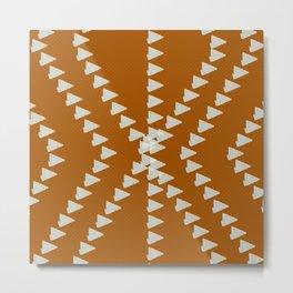 Down To Earth Terracotta Geometric Metal Print
