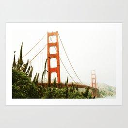 Green Golden Gate Art Print