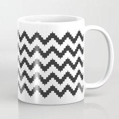 Funky chevron - black Coffee Mug