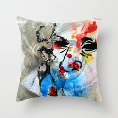 The Face Of The Saint Throw Pillow