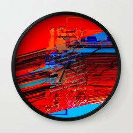 Cells Interlinked - Bold Red and Blue Wall Clock