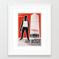 die hard Framed Art Prints featuring DIE HARD by Alain Bossuyt