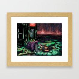 A Total Wreck Framed Art Print