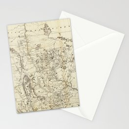 Territory of Minnesota Map (1849) Stationery Cards