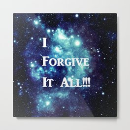 Turquoise Teal Galaxy : I Forgive It All Metal Print