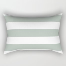 Ash gray - solid color - white stripes pattern Rectangular Pillow