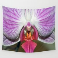 orchid Wall Tapestries featuring Orchid  by Sammycrafts